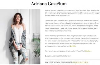 Blogger Adriana Gastélum Fake Leather